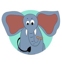 elephant icon avatar vector image