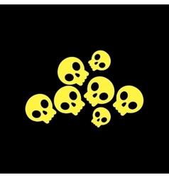 flat icon on background halloween skulls vector image