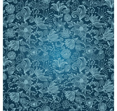 Floral Outlines Pattern vector image vector image