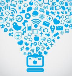 Modern social media content vector image