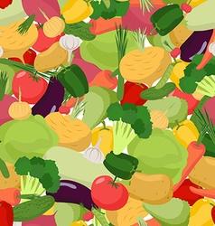 Vegetables pattern seamless Vegetable organic food vector image vector image