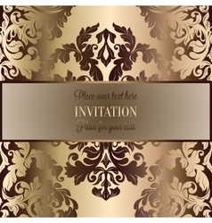 Abstract background with luxury beige and gold vector