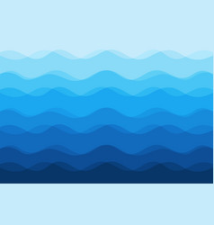 abstract blue waves background for design vector image