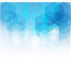 abstract hexagonal background template vector image