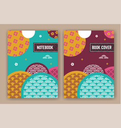 abstract oriental background design for book vector image