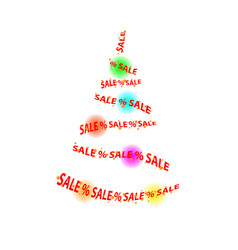 abstract sale in the store christmas tree balls vector image