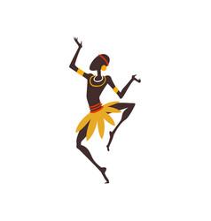 African man dancing male aboriginal dancer in vector