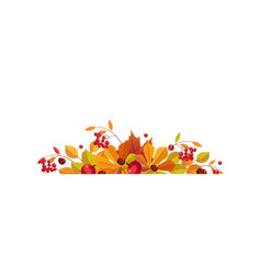 autumn background with space for text banner with vector image