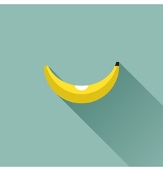 Banana Flat design with long shadow vector image
