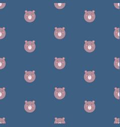 Bear bacute animal seamless pattern vector