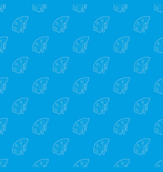 big building pattern seamless blue vector image