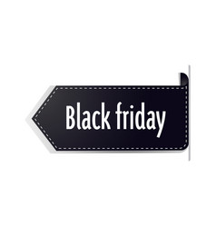 black friday sticker or discount badge holiday vector image