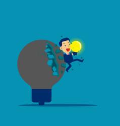 breakthrough idea new creativity idea concept vector image