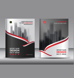 Brochure template layout black cover design vector