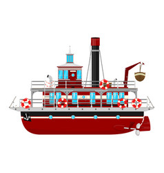 cartoon ferryboat vector image