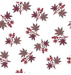Castorbean seamless pattern vector