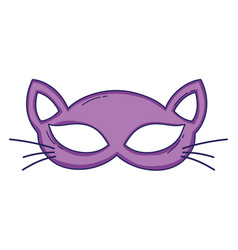 cat mask cartoon vector image