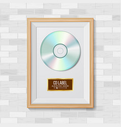 Cd disc award best seller musical trophy vector