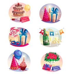 Celebration Set Of Isolated Air Balloons vector