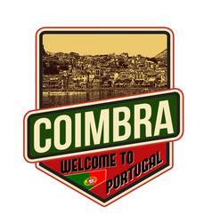 coimbra travel sticker vector image