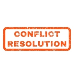 Conflict Resolution Rubber Stamp vector