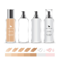 Cosmetic transparent bottle vector
