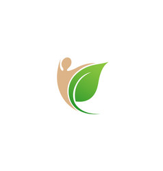 creative body leaf logo vector image