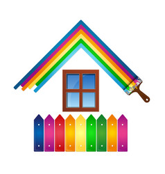 Design for painting house vector