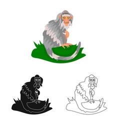 Design monkey and animal symbol vector
