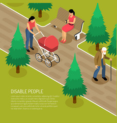 Disabled isometric vector