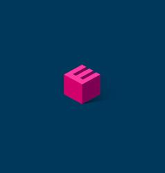 e box letter e monogram vector image
