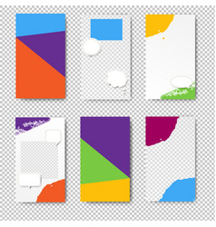 editable story template set photo frames vector image