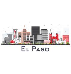 el paso texas skyline with gray buildings vector image