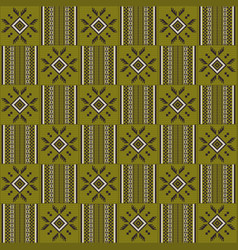 Ethnic seamless pattern cloth kente tribal print vector