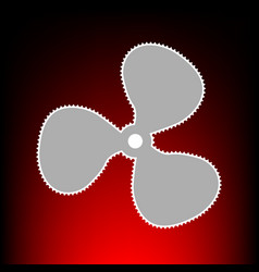 fan style on red vector image