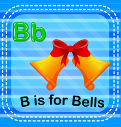 Flashcard letter b is for bells vector