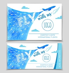 Fly with us Airline flyer design vector