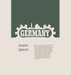 Germany word build in gear vector