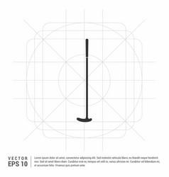 golf bat icon vector image