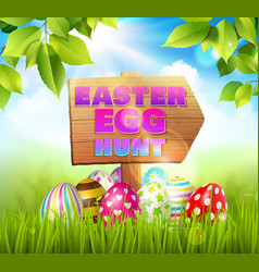 hunting eggs easter composition vector image