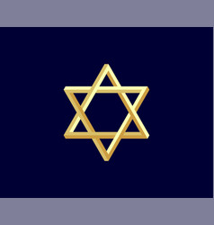 jewish star david icon six pointed stars symbol vector image