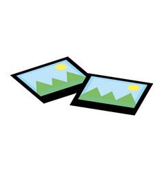 Landscape photographs cartoon vector