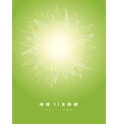 Magical green leaves sunburst vertical template vector