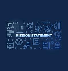 mission statement blue outline banner vector image