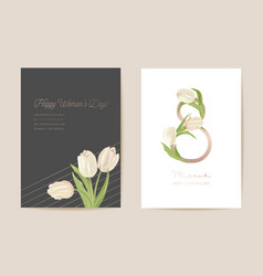 modern woman day 8 march holiday card spring vector image