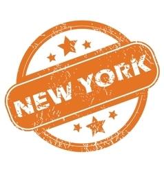 New York round stamp vector