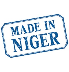 Niger - made in blue vintage isolated label vector