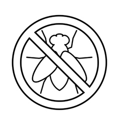 No fly sign icon outline style vector