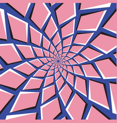 Optical pink blue background vector
