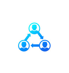 People interacting team interaction icon vector